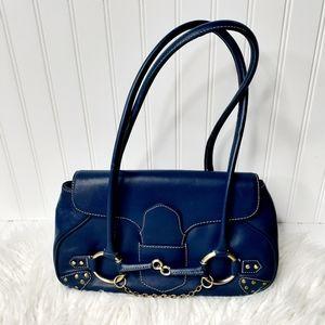 Paradox Blue Leather Handbag